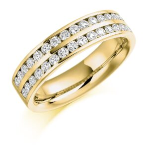 Penelope - Double Row Channel Set Diamond Wedding Ring