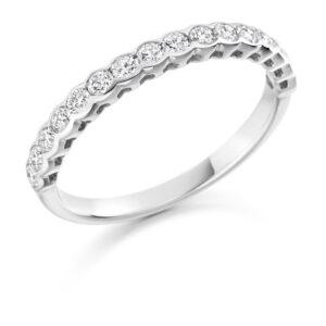 Zoey - Half Eternity Rubover Set Diamond Wedding Ring