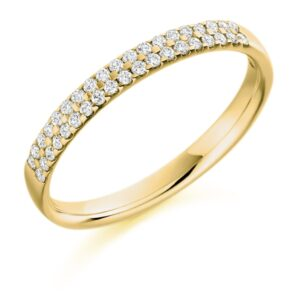 Addison - Double Row Micro-Claw Set Diamond Wedding Ring