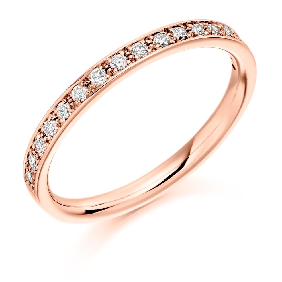 Layla - Grain Set Diamond Wedding Ring