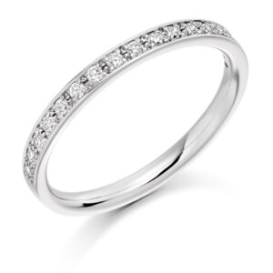 Layla - Grain Set Diamond Wedding Ring