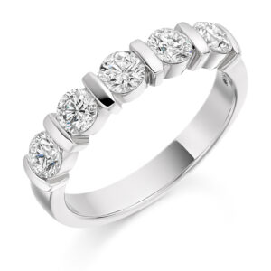 Natalie - Bar Set Diamond Wedding Ring