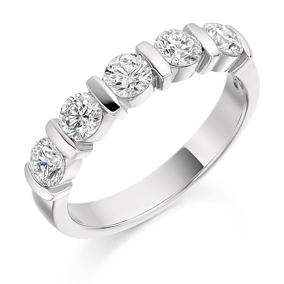 Natalie - Bar Set Diamond Wedding Ring