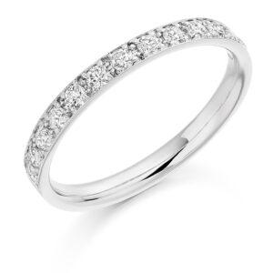Eleanor - Grain Set Diamond Wedding Ring
