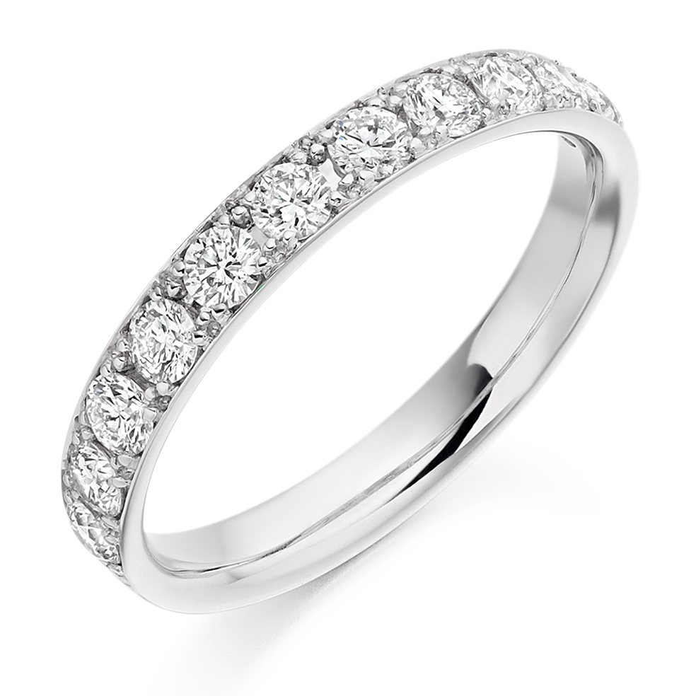 Ellie - Grain Set Diamond Wedding Ring