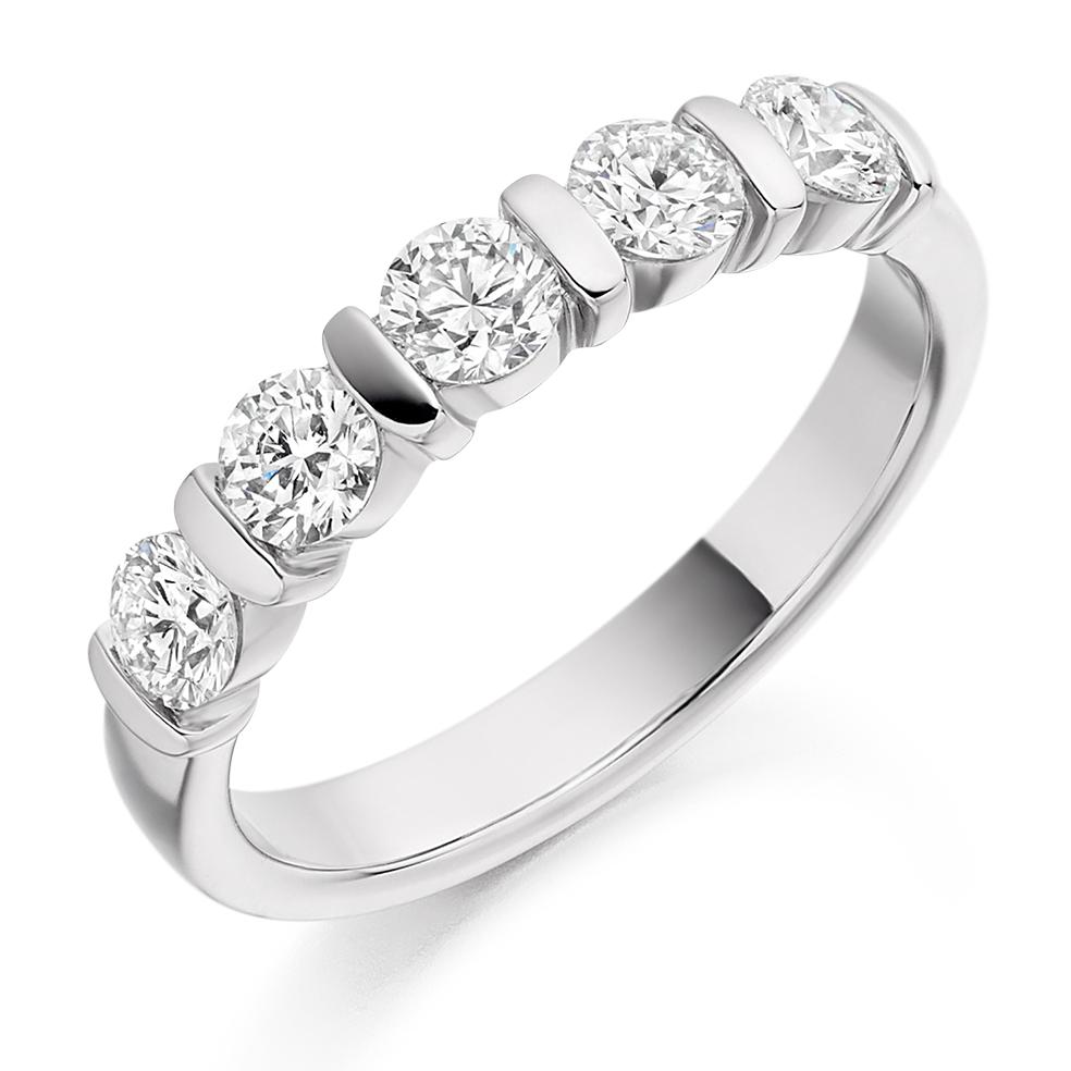 Lillian - Bar Set Diamond Wedding Ring