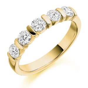 Lillian - Bar Set Diamond Wedding Ring