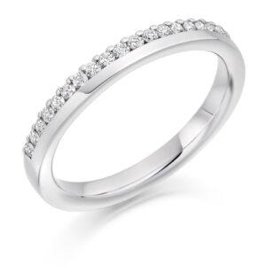 Hannah - Offset Micro-Claw Set Diamond Wedding Ring
