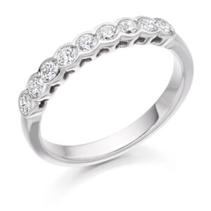 Luna - Rubover Set Diamond Wedding Ring