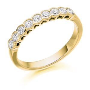 Luna - Rubover Set Diamond Wedding Ring