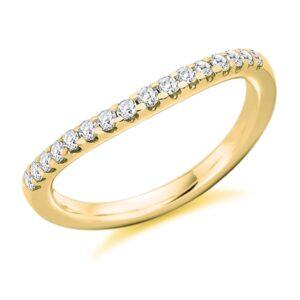 Savannah - Curved Micro-Claw Set Diamond Wedding Ring